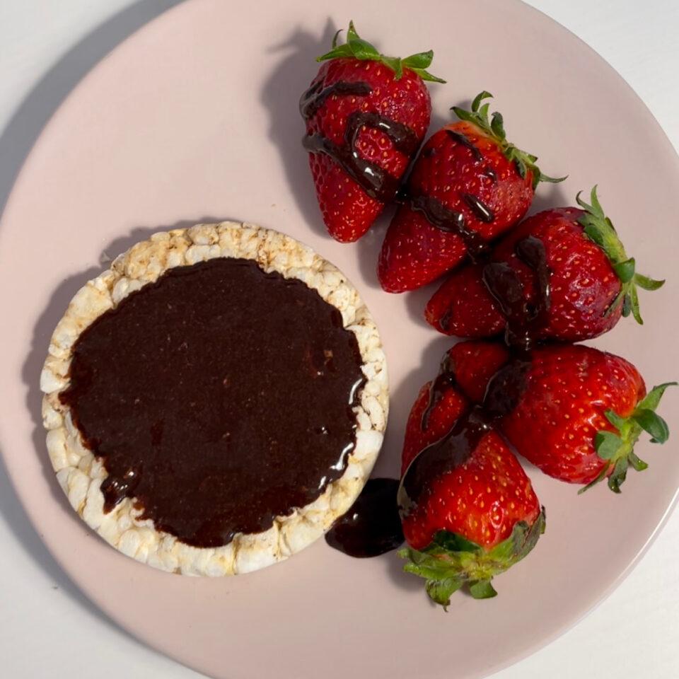 Crema al cacao proteica